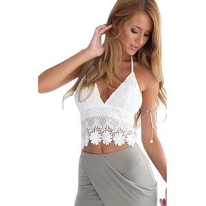 Large White Crochet Top